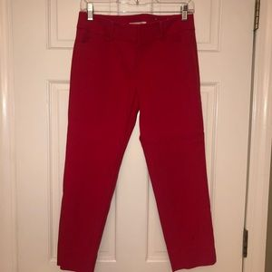 Red Ankle-Cropped Pants!